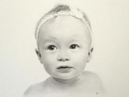 Baby Eve in pencil by SteveHargreaves
