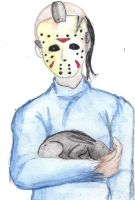 Jason with a bunny by I-Major-In-Magick