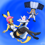 Sallie and Nadette, XTREME Maids by phallen1