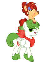 Shaymin And Akane by Posey-11