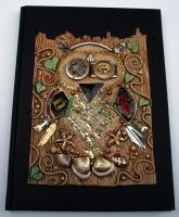 Mosaic Owl Art Journal by MandarinMoon
