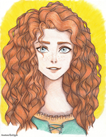 I'll be Brave (Merida) by AnastasiaRedApple