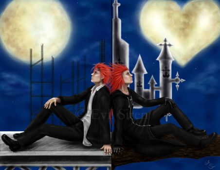 Reno and Axel by Evil-Siren