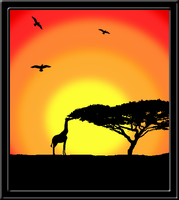 African Sunset - Collaberation by SammylovesCookies