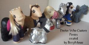 My little Pony Custom Doctor Who Set by BerryMouse