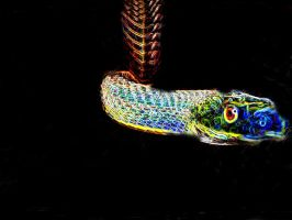 Neon Snake by tastybedsore