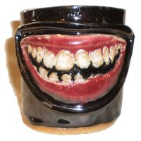 Toothy Grin Cup by aberrantceramics