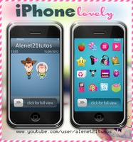 iPhone lovely for xwidget by alenet21tutos by alenet21tutos