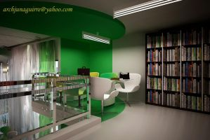 LIBRARY INTERIOR 7 by ARCHJUN