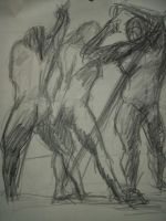 Quick Male figure study by aestheticartist