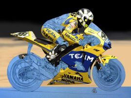 Valentino Rossi by Mike6otto