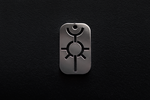 Warhammer40k Necron (dog tag) Stainless Steel by Snoopyc