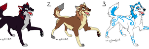 Wolf Adoptables 2 by HowlingWolfSong