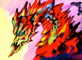Colorful Dragon Bust by Lucky978