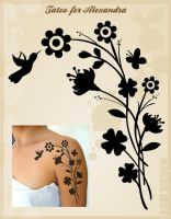 Tatoo for Alexandra by studiocartoon