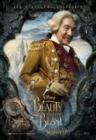 Ian McKellen as Cogsworth in Beauty and the Beast by Artlover67
