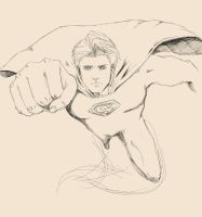 Superman practice study by KindCoffee