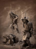 three samurai by danulrich