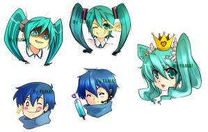 Miku and Kaito Set by LazyTurtle