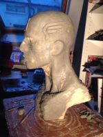 Captain America Bust (work in process) by HovigArt