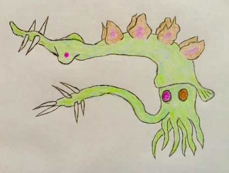Stegosaurus squid by VaughnVicious