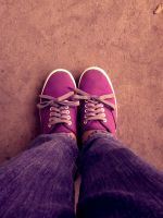 My Feet in Purple Shoes by cheaterboy-A