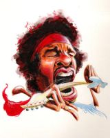 Jimi Hendrix by waldron1