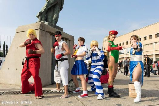 Street Fighter cosplay gang - Ready to fight! by XaviRuizKun