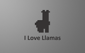 I Love Llamas - Wallpaper by FloStyler0408