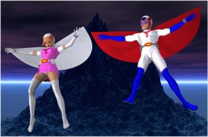 G Force Battle of the planets Gatchaman by Gustvoc