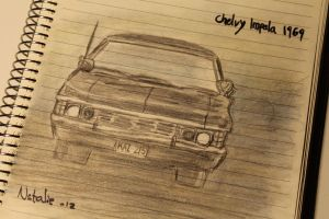 Chevy Impala 1967 Sketch by svesh95