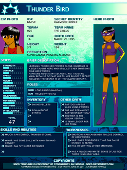 Thunder Bird SGPA Profile 2012 by Lavender-chan