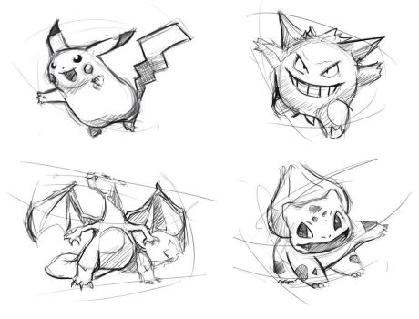 Pokemon sketches by Fievy
