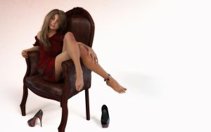 chair pose for your desktop by ziege58
