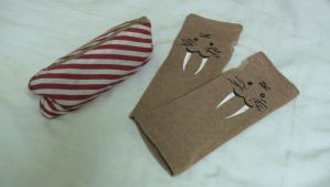 Pencil Case and Walrus Gloves by shiyonin