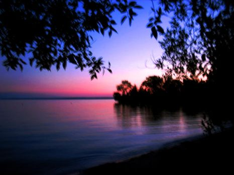 Dusk On Lake Simcoe by NanamiGenji