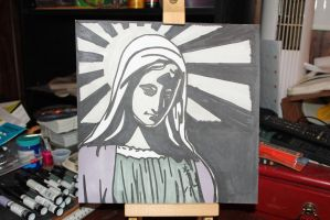 Virgin Mary in Grays by Rocail-Studios