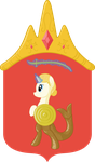 Coat of arms of Warsaw ponyfied by Esc54