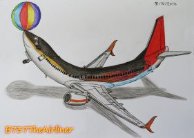 Airplane Balancing Ball!? by B737TheAirliner