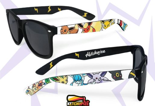 Eevee Evolutions hand painted sunglasses by Ketchupize