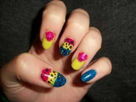 Colorful Nails by QueenAliceOfAwesome
