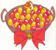 Gryffindor House Easter Basket by angelcollina