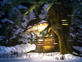 Fairy's Winter Place by Trisste-stocks