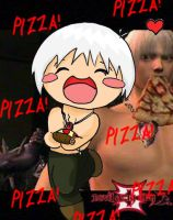 Dante and his pizza by Kitara88