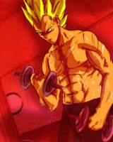 Vegeta doing what he does best by brocken-jr