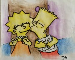 Lisa and Bart  Request 2 by DianaM16