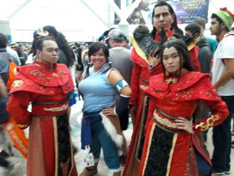 Fire nation and Korra by Beastwithaddittude