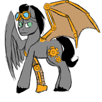 Steampunk Pony Adoptable (CLOSED) by SkyBreeze-MasterMC