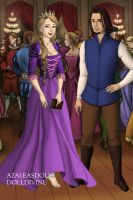Tudor Disney Couples Eugene and Rapunzel by SerenDippityDooDah