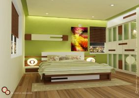 Raj residency- Bedroom space by creativegenie
